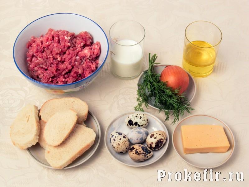 Мясные гнезда из фарша с яйцом и сыром: фото 1