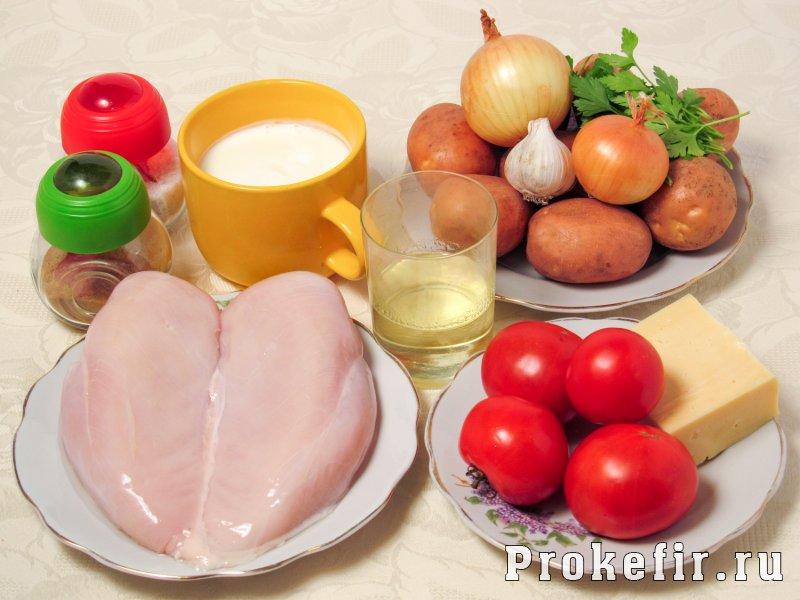 Мясо по франтсузски из курицы с картошкой в духовке: фото 1