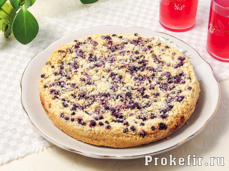 Насыпной пирог с творогом и ягодами на кефире: фото 8