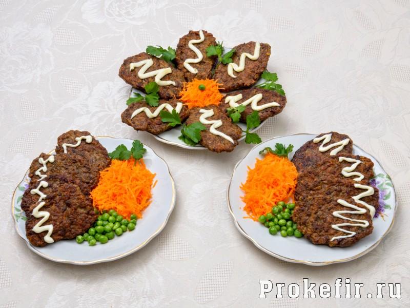 Оладьи из печени говяжьей с морковью: фото 5