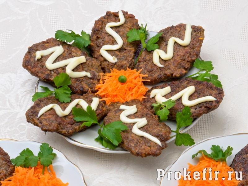 Оладьи из печени говяжьей с морковью