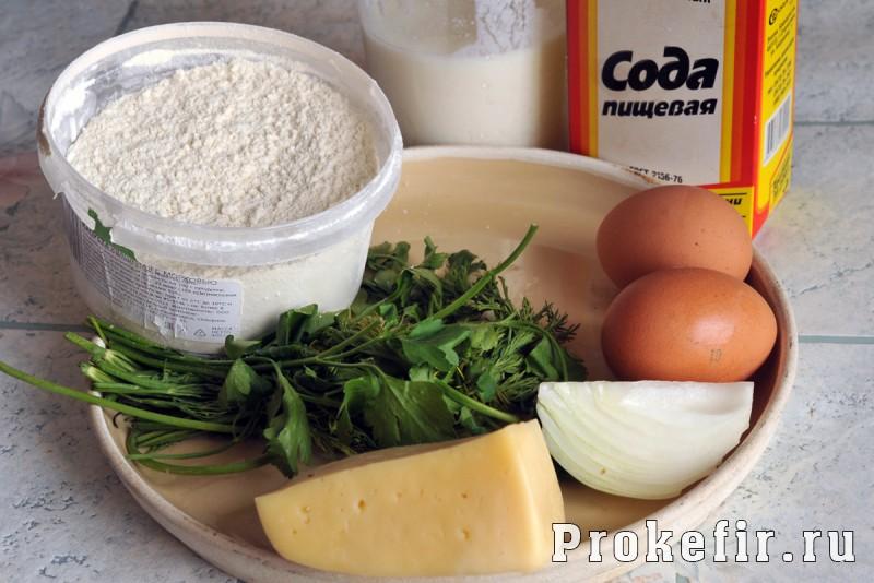 Оладьи на кефире с сыром и зеленью: фото 1