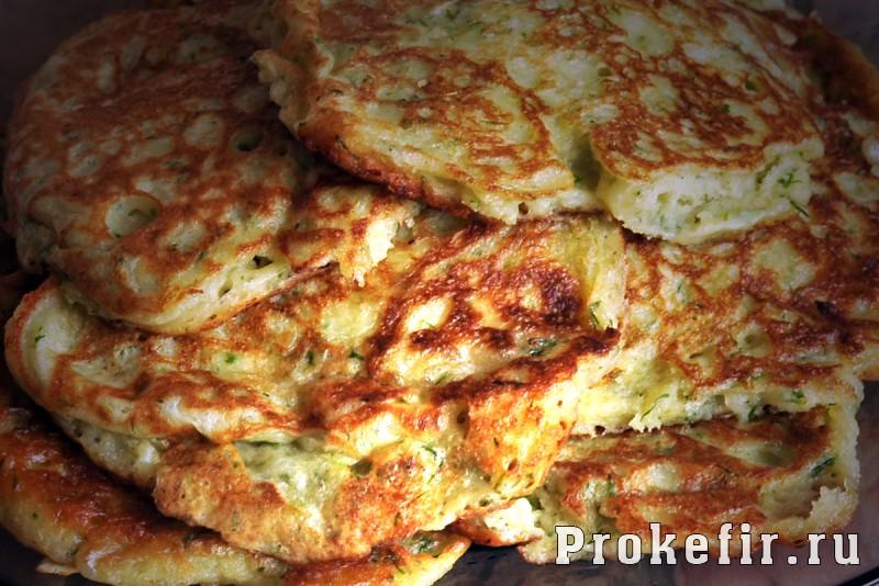 Оладьи на кефире с сыром и зеленью