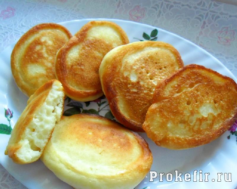 Оладьи на кефире без яиц: фото 8