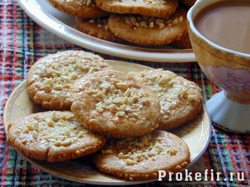 Ореховое печенье на кефире с ванильным сахаром
