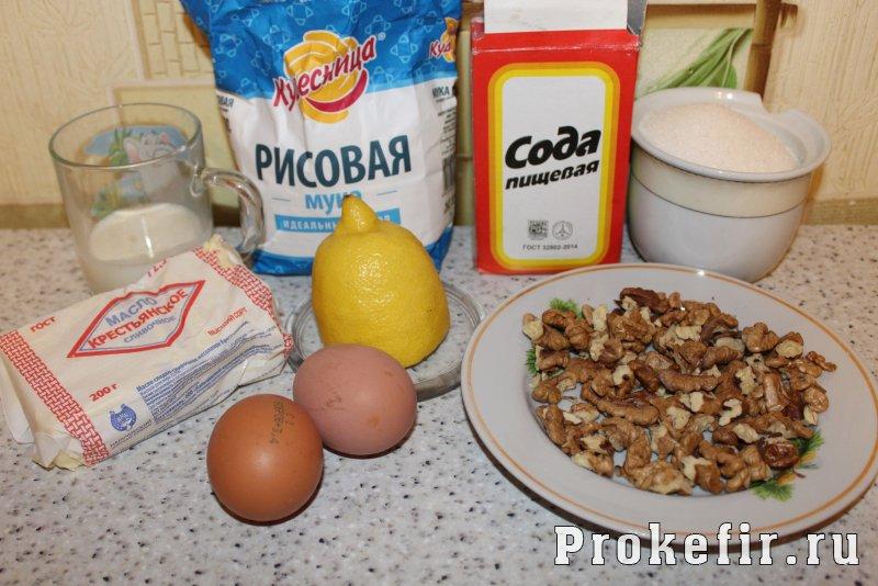 Печенье из рисовой муки рецепт на кефире: фото 1