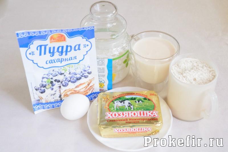 Печенье хризантема через мясорубку с кефиром: фото 1