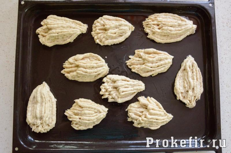Печенье хризантема через мясорубку с кефиром: фото 5