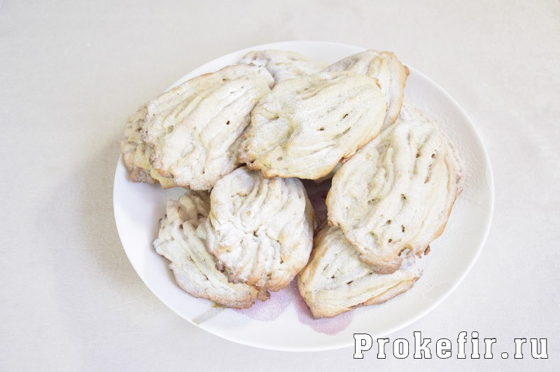 Печенье хризантема через мясорубку с кефиром: фото 7