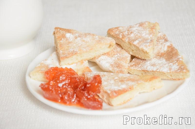 Печенье на сковороде на скорую руку на кефире