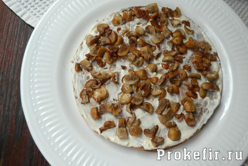 Печеночный торт рецепт из куриной печени с грибами на кефире: фото 13