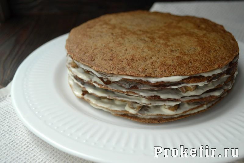 Печёночный торт на кефире рецепт пошагово