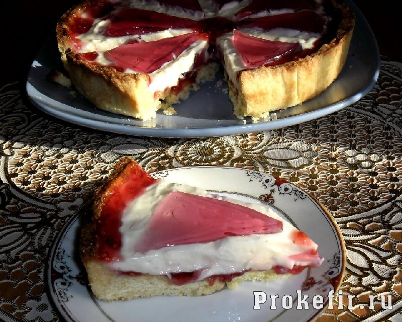 Рецепт песочного пирога с желе из кефира: фото 20