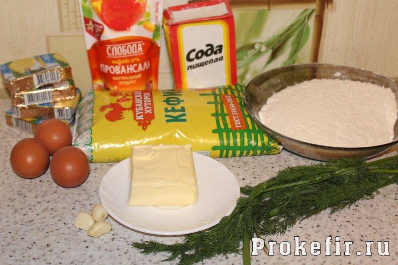 Пирог бешамел с плавлеными сырками на кефире: фото 1