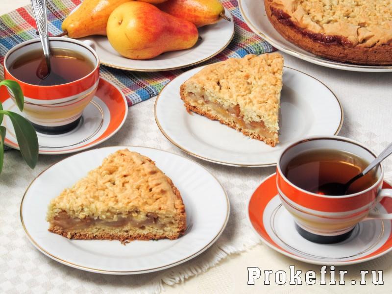 Пирог с грушами простой рецепт на кефире