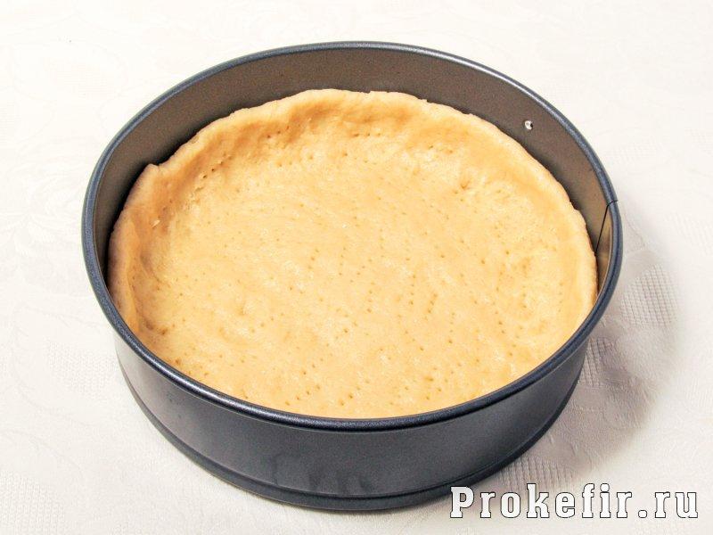 Пирог с персиками свежими и творогом из песочного теста на кефире: фото 3