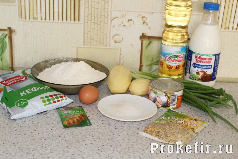 пирог с сайрой и картошкой рецепт с фото на кефире