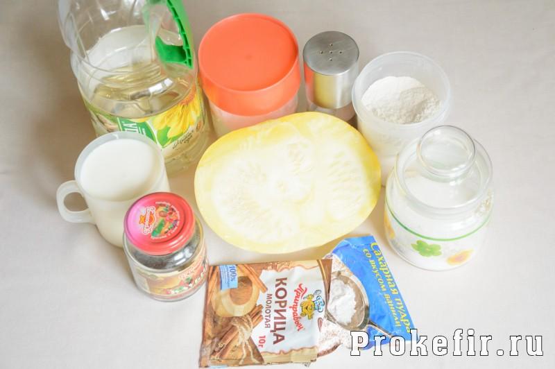 Пирог с тыквой и корицей на кефире в духовке: фото 1