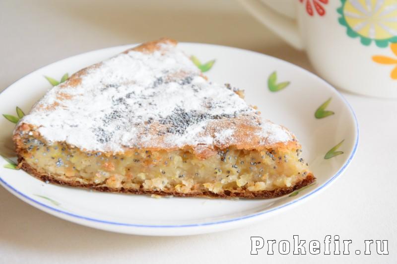 Пирог с тыквой и корицей на кефире в духовке