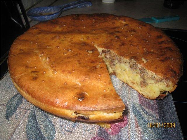 Заливной пирог на кефире