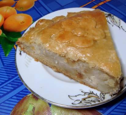 Пирог с картошкой на кефире
