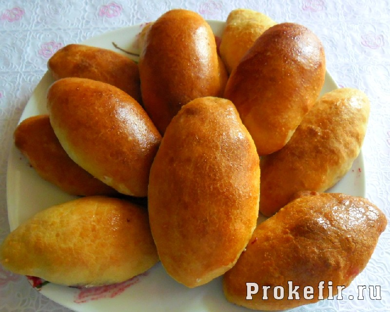 Тесто из кефира для жареных пирожков