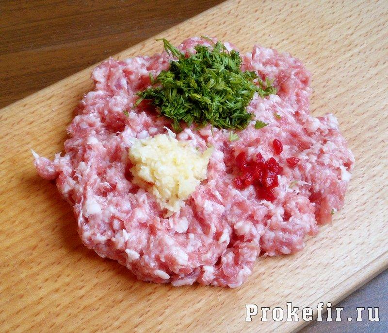 Пирожки на кефире без дрожжей с мясным фаршем: фото 2