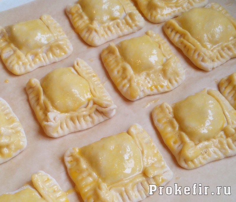 Пирожки на кефире без дрожжей с мясным фаршем: фото 8