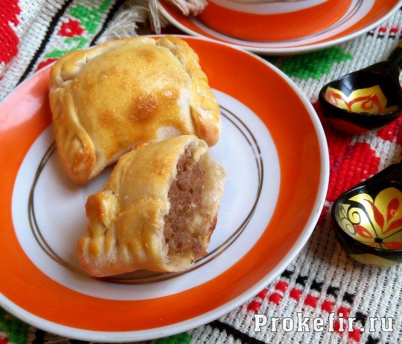 Пирожки на кефире без дрожжей с мясным фаршем: фото 9