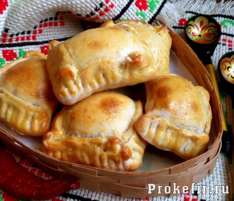 Пирожки на кефире без дрожжей с мясным фаршем