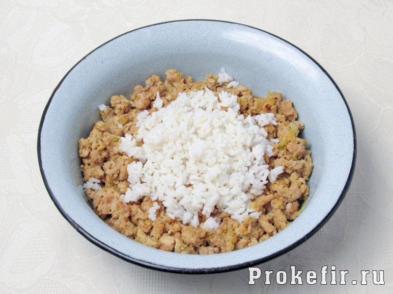 Пирожки с мясом и рисом в духовке на кефире: фото 5