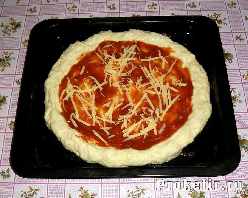 Пицца рецепт с дрожжами с пошагово в
