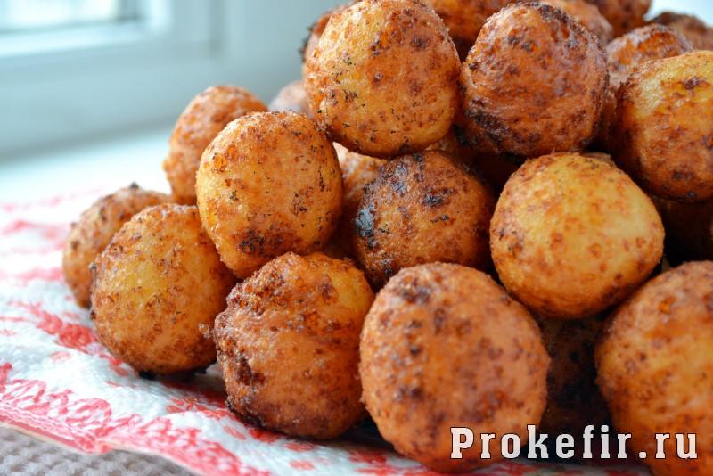 Пончики с творогом рецепт пошаговый с фото на кефире: фото 7