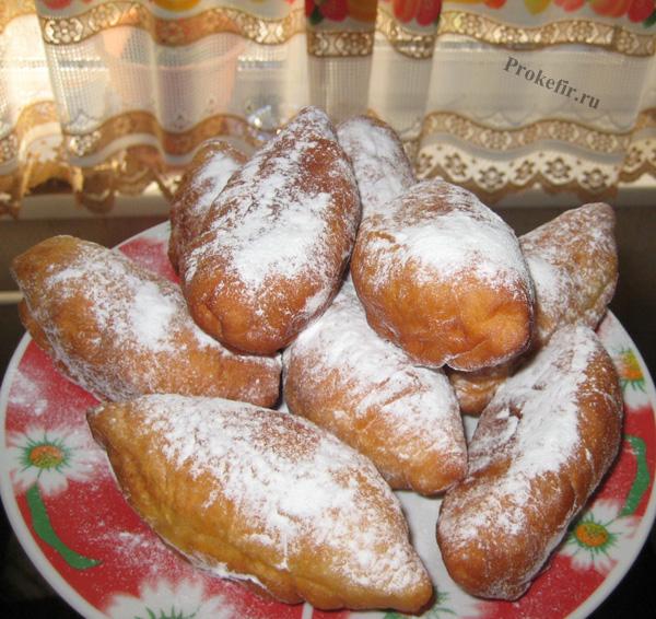 Пончики со сгущенкой на кефире