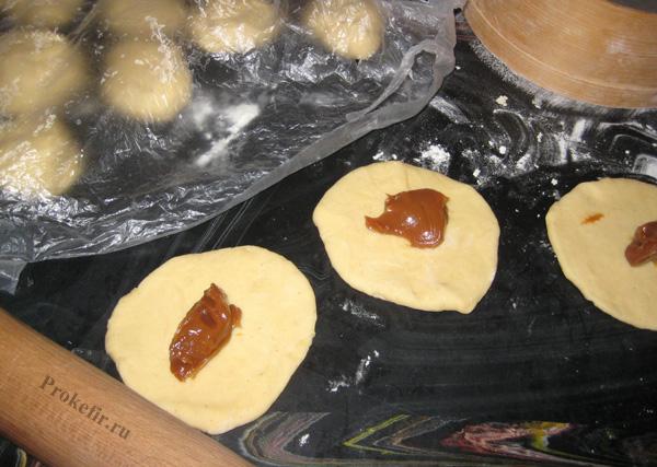 Тесто на кефире со сгущенкой