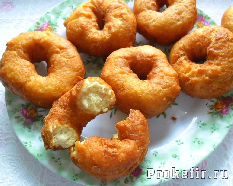 Пончики на кефире за 15 минут