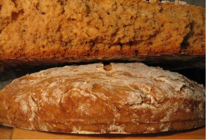 Домашний хлеб на кефире без дрожжей в духовке рецепт пошагово