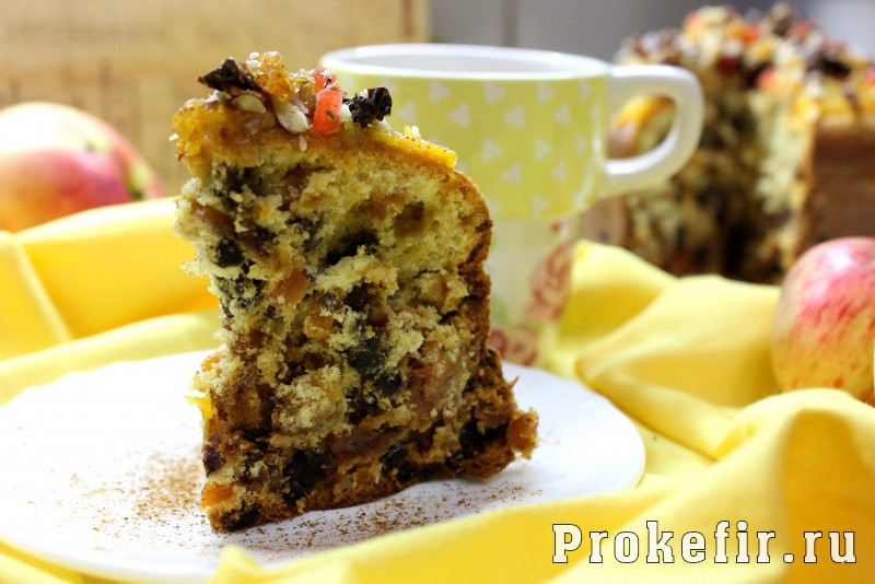 Рецепт кекс с орехами и сухофруктами рецепт с фото — 9