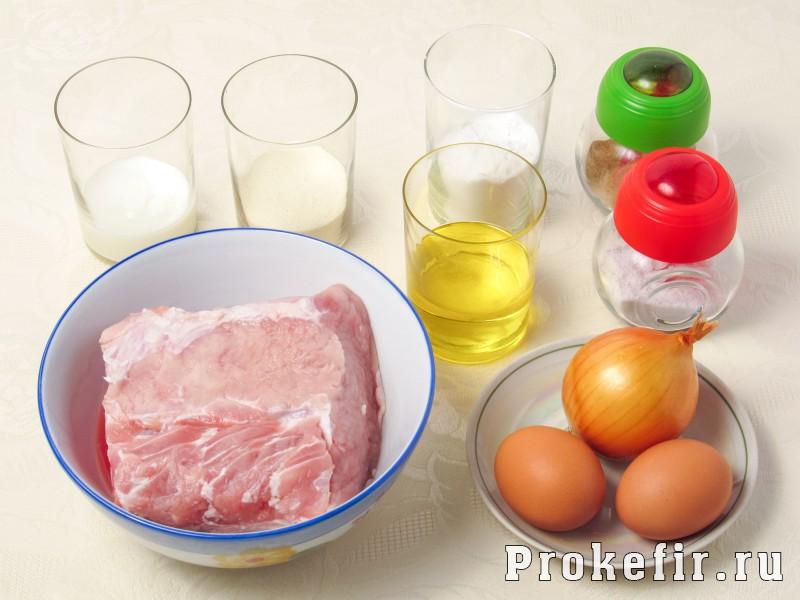 Рубленые котлеты из свиныны рецепт с крахмалом манкой и кефиром: фото 1