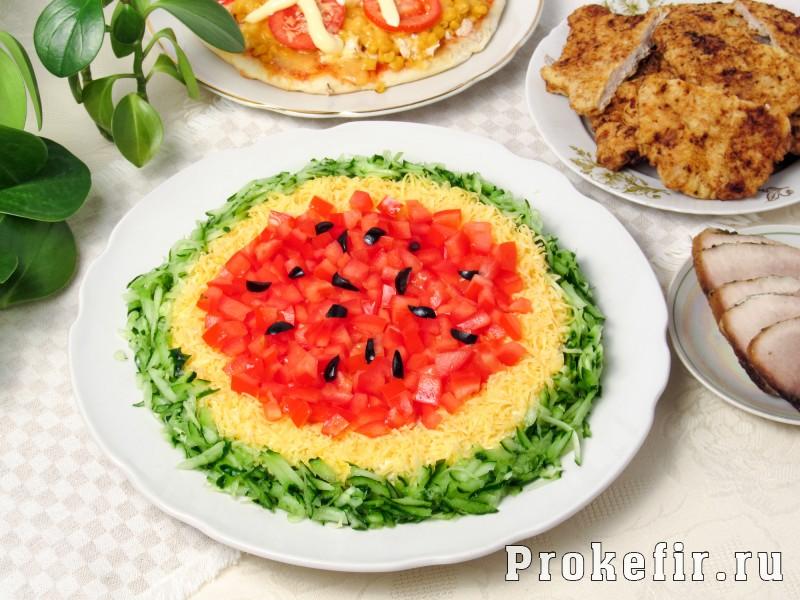Салат арбузная долька пошаговый рецепт с фото