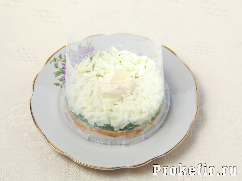Салат мимоза с рисом сыром и консервой рецепт 18