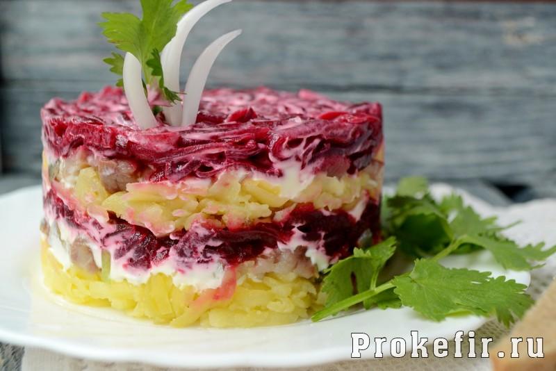 шуба салат рецепт классический с малым количеством майонеза