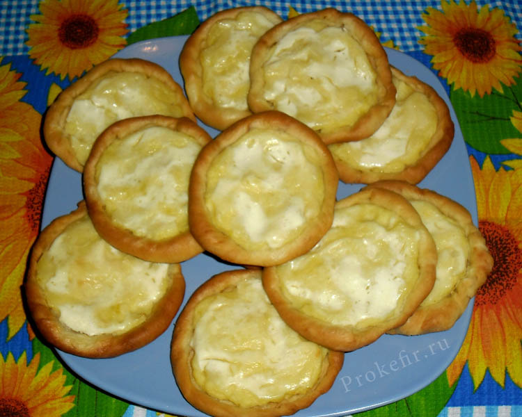 Шаньги с картошкой на кефире