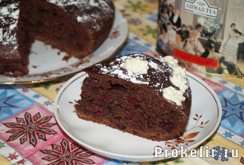 Шоколадный кекс на кефире в мультиварке