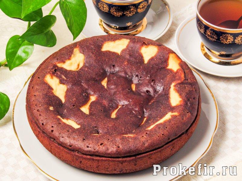Шоколадный кекс рецепт на кефире с фото пошагово