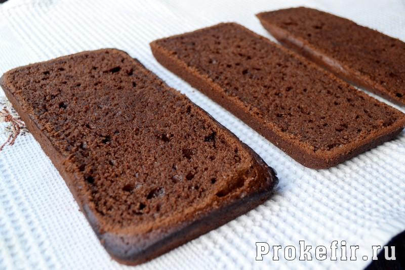 Шоколадный торт на раз два три с коржами на кефире: фото 11