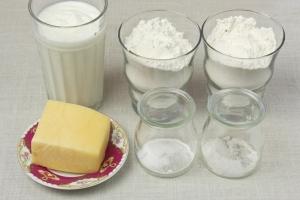 Ингредиенты для сырных лепешек