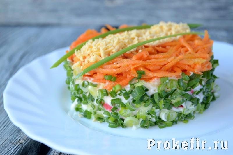 Зеленые соленые салаты из зеленых помидоров