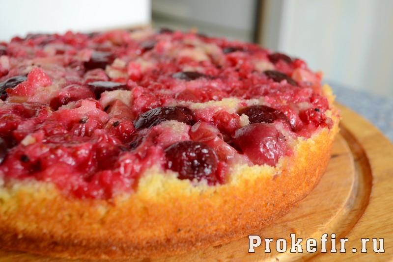Сочный манник с ягодами: фото 9