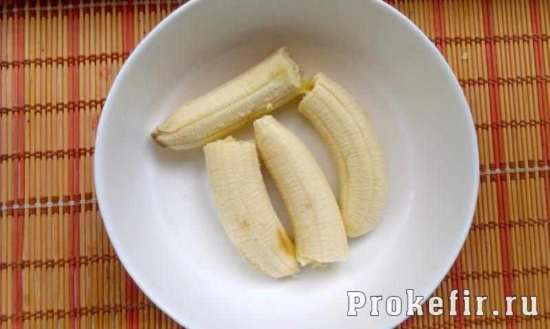 Суфле из кефира и желатина с бананом: фото 1